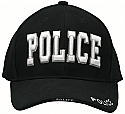 "Deluxe Low Profile Black ""POLICE"" Hat"
